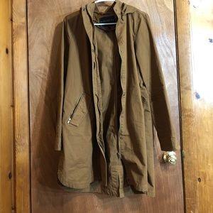Forever 21 lightweight jacket light khaki brown